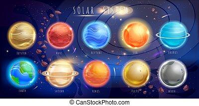 set, colori, pianeti