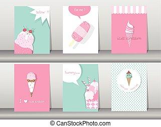 set, coni, gelato