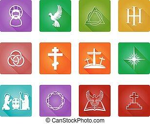 set, cristiano, icona