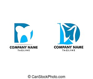 set, d, dentale, disegno, lettera, logotipo, sagoma