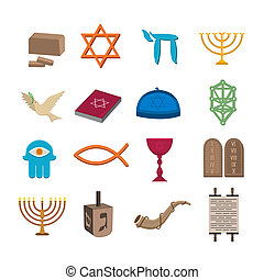set, ebraismo, icone