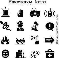 set, emergenza, icona