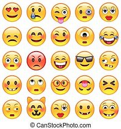 set, emoticons., emoji