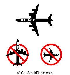 set, esso, illustrazione, ciao, jak, aeroplano