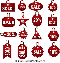 set, etichetta, prezzatura, vendita dettaglio