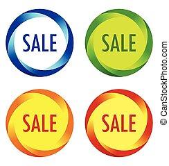 set, etichette, vendita