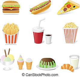 set, fast food