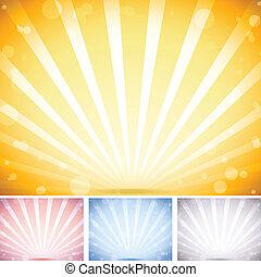 set, fondo., colori, prospettiva, strisce, 4