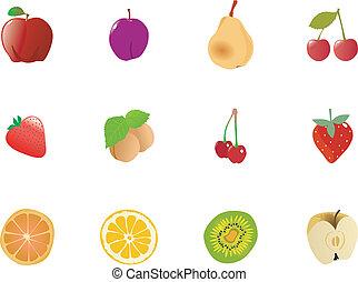 set, frutte