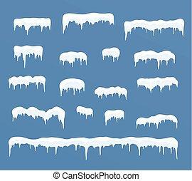 set., ghiaccio, cappucci