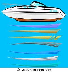 set, grafica, barca