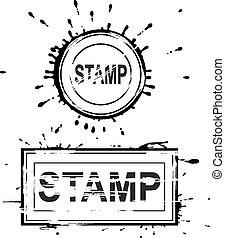 set, grunge, afflitto, stamps.