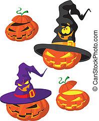 set, halloween, zucca