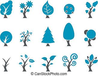 set, icona, albero