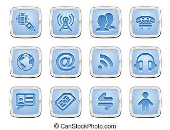 set, icona, comunicazione