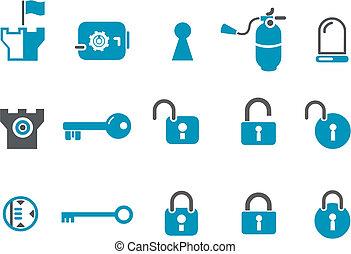 set, icona, sicurezza