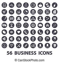 set, icone affari