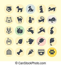 set, icone animali