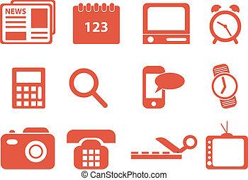 set, icons., vettore