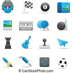set, indaco, intrattenimento, icone, 01,  