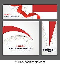 set, indonesia, fondo, bandiera, giorno, indipendenza, felice