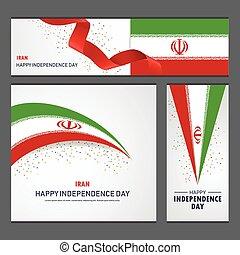 set, iran, fondo, bandiera, giorno, indipendenza, felice