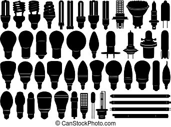 set, lampadine, luce