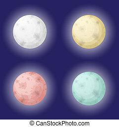 set, luna