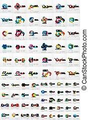 set, mega, affari, astratto, collezione, logotipo, icona