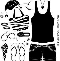 set., moda, nero