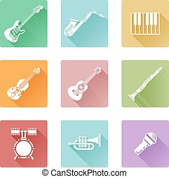 set, musica, icona