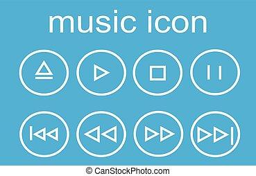 set, musica, icone