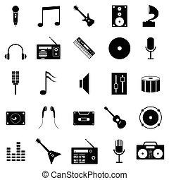 set, musicale, icona