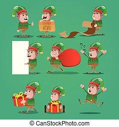 set, natale, elf.