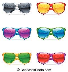 set., occhiali da sole