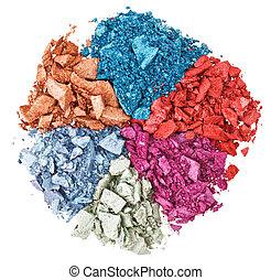 set, occhio, macro, isolato, rotto, multicolor, bianco, uggia