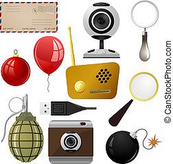 set, oggetti