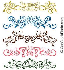 set, ornamenti, disegno