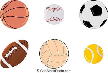 set, palle