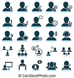 set, persone, icona