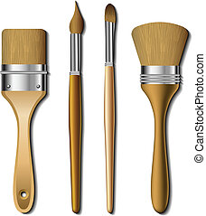 set, pittura, spazzola