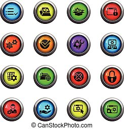 set, regolazioni, icona