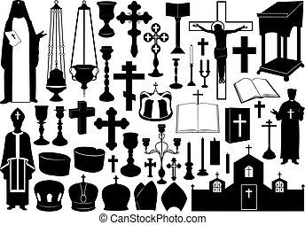 set, religioso, elementi