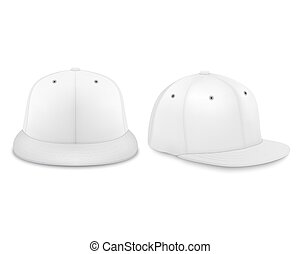 set, render, disegno, vuoto, isolato, fondo., sagoma, bianco, 3d, closeup, fronte, advertise., icona, marcare caldo, manichino, berretto, snapback, realistico, vettore, baseball, vista laterale