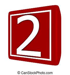 set, render, numero 1, 2, font, 3d