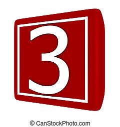 set, render, numero 1, 3, font, 3d