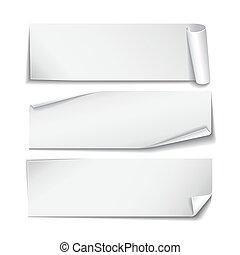 set, rettangolare, fondo., carta, bianco, adesivi
