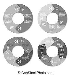 set, rotondo, infographic
