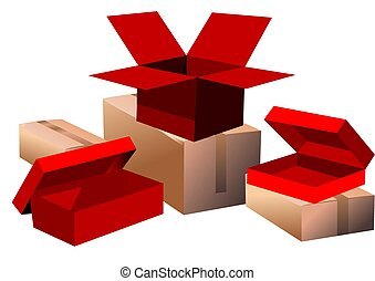 set, scatole