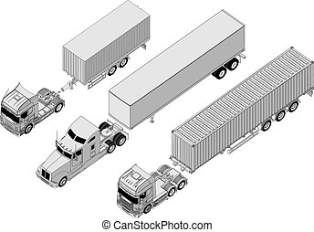 set, semi-camion